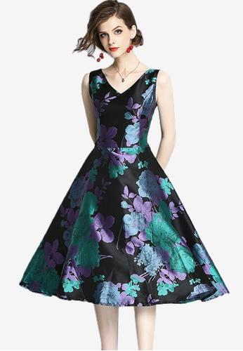Sunnydaysweety multi Flower Patterned One Piece Dress B6E3CAA41D0F85GS_1