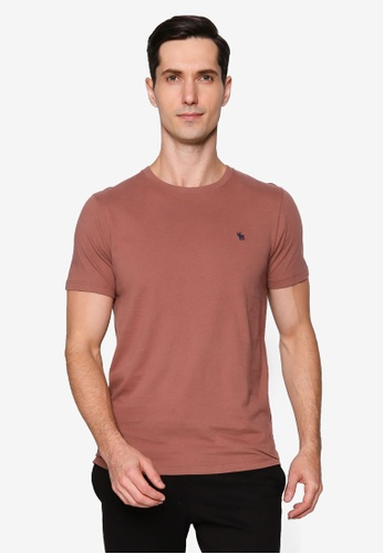Abercrombie & Fitch brown Short Sleeves Icon Crew Tee 14F58AA8791C92GS_1