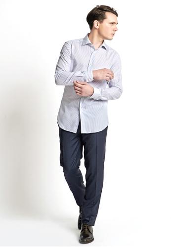 Gay Giano blue Slim Fit Wide-Spread Collar Dress Shirt AAA8EAA3F8D18CGS_1
