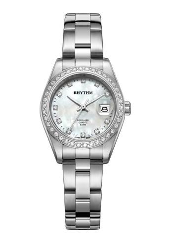 Rhythm RQ1620S 01 - Jam Tangan Wanita - Stainless - Silver White