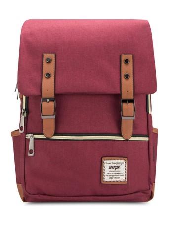 拼色多口袋旅行後背包, 包,zalora taiwan 時尚購物網鞋子 包