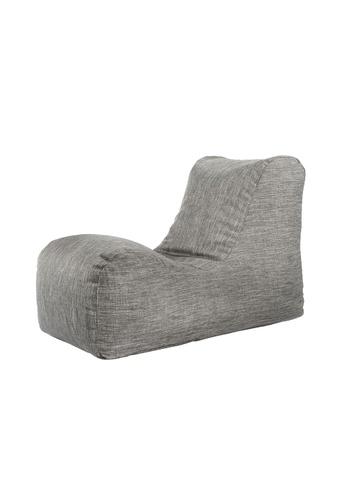 SoftRock grey BOHEMIAN – Linen-Style Upholstery SoftRock Bean Bag Recliner (Granite) 03E12HL6EAFD95GS_1