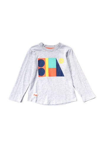 PONEY grey Poney Toddler Kingston Geometric Designed Long Sleeve Tee C5F84KAE6CBF53GS_1