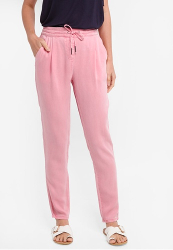 Vero Moda pink Rory Loose Twill Lyocell Pants 651D4AABD24FBCGS_1