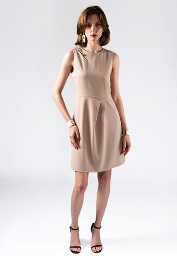 miss Viola beige EXECUTIVE STYLE SKINNY DRESS B4F1BAA8FEF3D0GS_1