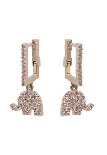 Sunnydaysweety gold Elephant Earrings CA060305 F92CAAC726162FGS_1