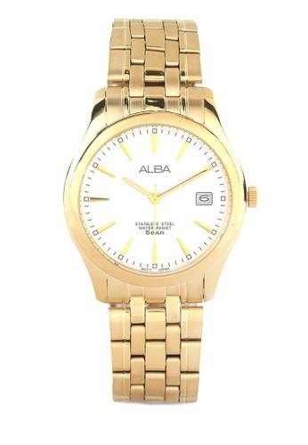 Alba gold ALBA Jam Tangan Pria - Gold White - Stainless Steel - AXHK82 AL383AC0UN3UID_1