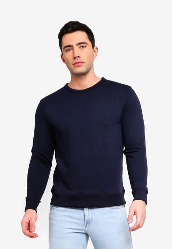 OVS blue Round Neck Sweatshirt D50A2AA7376F2EGS_1