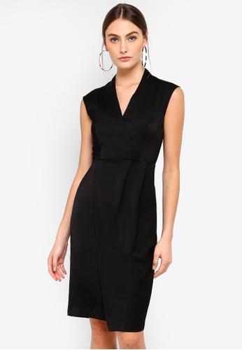 FORCAST black Aileen V-Neck Dress E1080AA0CC6EA1GS_1