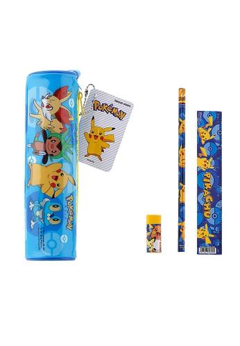 Locally Blend yellow Pokemon Stationary Set Pencil Case Round 01BA3KC0ACB331GS_1