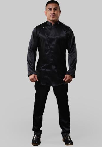 UA BOUTIQUE black Baju Melayu Saputra UABME01-011 (Black) 4EF91AAC757B8AGS_1