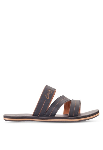 Louis Cuppers black Contrast Stitch Sandals LO977SH29RDEMY_1