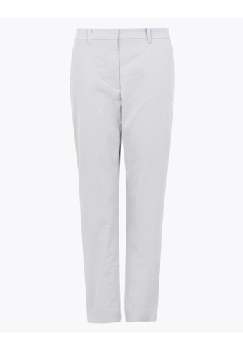 MARKS & SPENCER grey M&S Cotton Rich Straight Leg Chinos 3EB9BAAB85967BGS_1