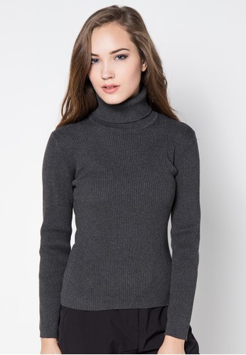 Noir Sur Blanc grey Ladies Rollneck Long Sleeve NO321AA16TLZID_1