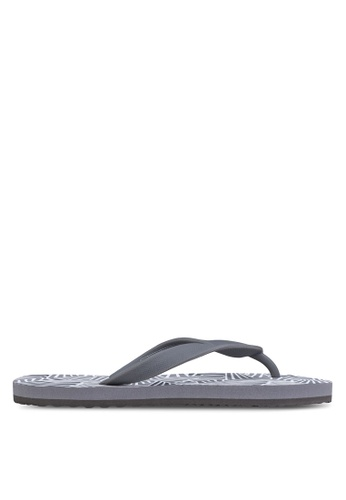 24:01 grey and navy Geo All Over Flip Flop 24841SH25AVEPH_1