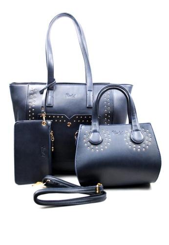 Kimbel International blue HGZ70123 3in1 Handbag KI262AC0J9X9PH_1