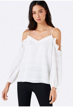 Leonie Floaty Cold Shoulder Top