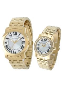 Set of 2 Watches: Analog Watch 15WY-EML-EMY-YBC