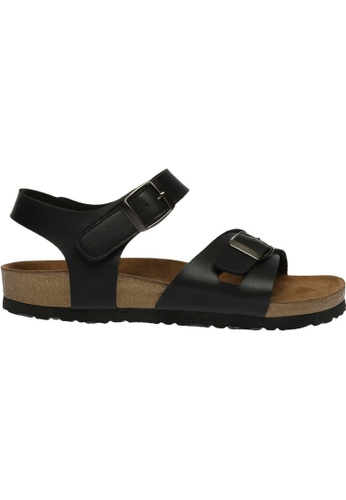 paperplanes black SNRD-218 Casual Summer 2-Belts Ankle Strap Sandals Shoes US Women Size PA355SH73QOOSG_1