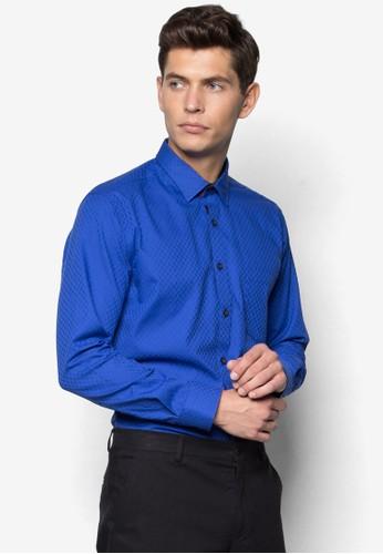 暗紋修身長袖襯esprit outlet台北衫, 服飾, 服飾
