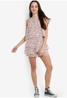 1614b1bdf13 37% OFF Something Borrowed Double Layered Printed Playsuit S  34.90 NOW S   21.90 Sizes XS S M L XL