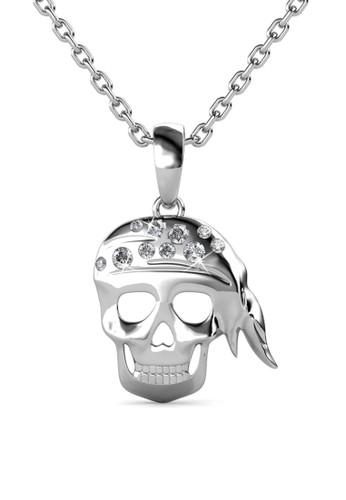 Her Jewellery silver Pirate Pendant - Kalung Crystal Swarovski by Her Jewellery HE210AC05QAOSG_1