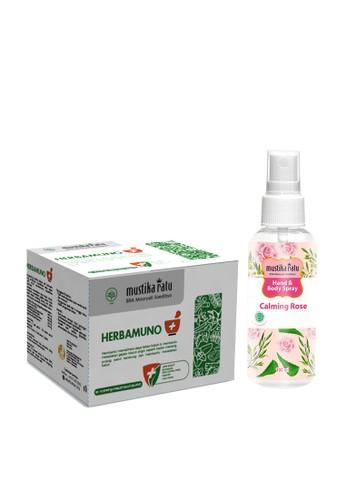 Mustika Ratu Herbamuno+ Immune Modulator 12 Strip (1 Box) +  [Mustika Ratu] Hand and Body Spray Antiseptic Calming Rose 5C2F0ESA634AA5GS_1
