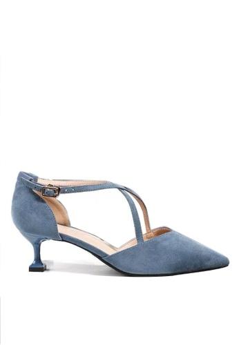 Twenty Eight Shoes 尖頭絨面高踭鞋6208-1 0A02DSH4E818F2GS_1