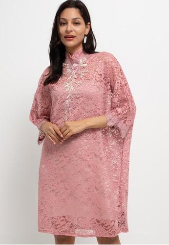 LUIRE by Raden Sirait pink FM Dress Lily Sanghai BP D35C6AA903CAAEGS_1