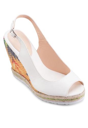 魚口露趾厚底楔型跟涼鞋, 女鞋esprit分店地址, 鞋