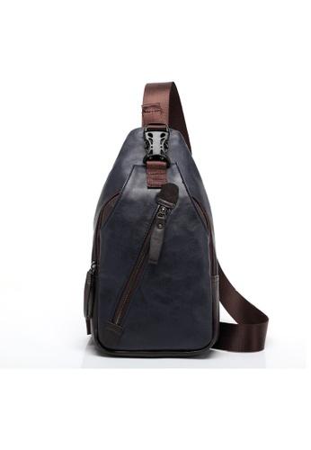 Lara blue Front Oblique Zipper Fasten Chest Pack Shoulder Cross-body Bag DE18CAC764CC82GS_1
