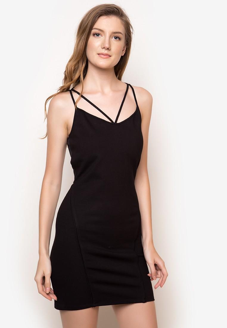 Lovella Black Bodycon Dress