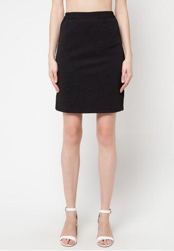Contempo black Mini Skirt CO339AA81OHAID_1