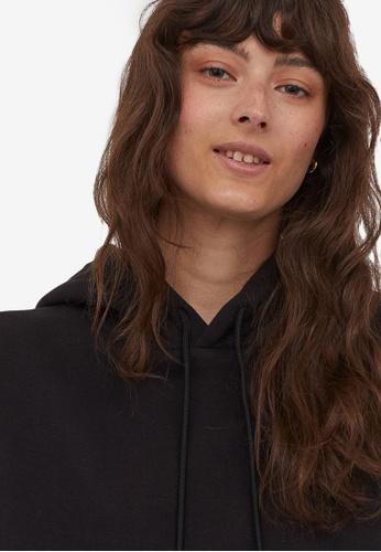 H&M black Hooded top 121E5AA3ED2603GS_1