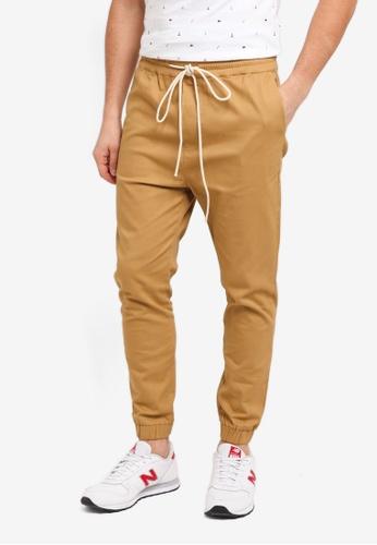 Flesh IMP beige Bouseman Loop Jogger Pants FECD9AA8A49519GS_1