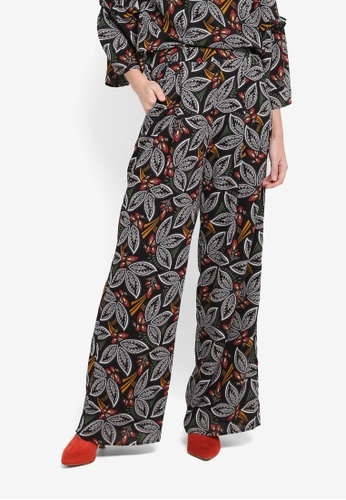 Zalia black Printed Palazzon Pants 01046AAB602054GS_1