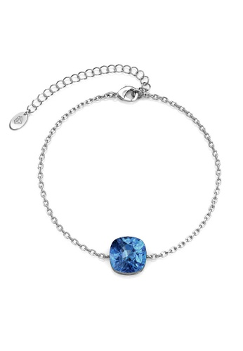 Her Jewellery silver Juliana Bracelet (Blue) - Made with premium grade crystals from Austria 74F41ACF0987BCGS_1