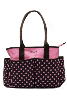 Polka Dots Maternity Fashionable Baby Stuff Organizer and Baby Diaper Changer Shoulder Bag