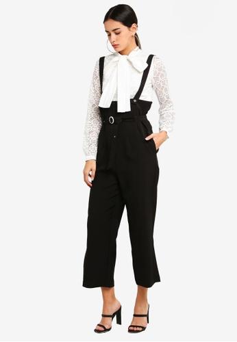 Sister Jane black Sound Barrier Suspender Trousers 732DFAA5D97755GS_1