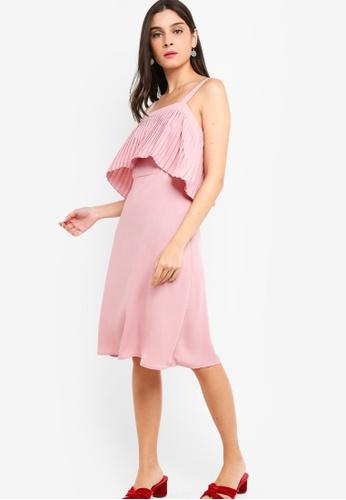 ZALORA 粉紅色 Pleated Dress A5D67AAD1345B0GS_1
