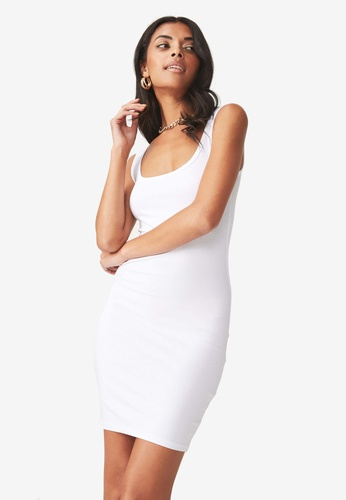 Supre white Thick Strap Tank Dress 94C77AAF6412D4GS_1