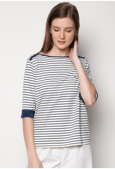 3/4 Sleeves Printed Stripes