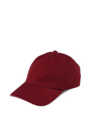 TOPMAN red Burgundy Outcast Relaxed Fit Curve Peak Cap 02B0DAC59E1523GS_1