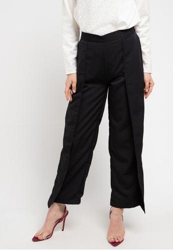 AZZAR black Adalle Pants in Black F9BA5AA4383390GS_1