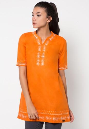 GAFF orange Alya Blouse GA640AA25CIWID_1