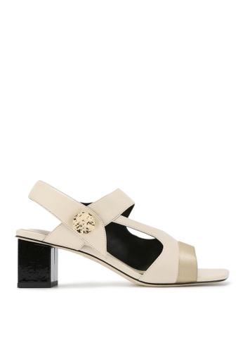 Rabeanco beige RABEANCO SEYNA Block Heel Sandals - Beige 133E4SH8026F05GS_1
