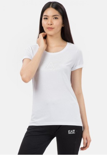EA7 Emporio Armani white TRAIN LOGO SERIES T-SHIRT 0606EAA8C72232GS_1
