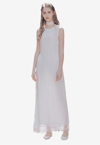 Kodz white Lacy Shift Dress E6FEFAA7385FA9GS_1