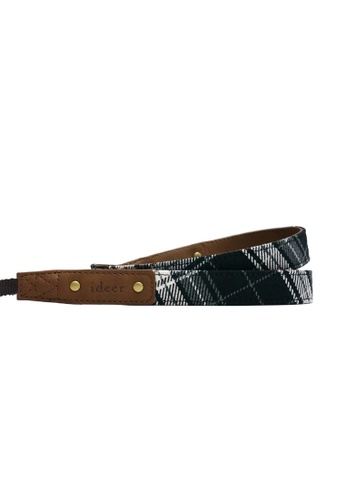 ideer black and white Scottie Stewart Black Mini Camera Strap ID960AC86FOJHK_1
