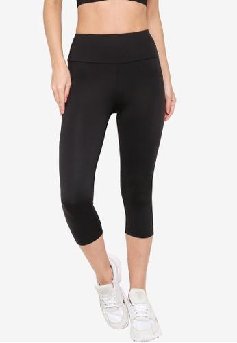 ZALORA ACTIVE black Yoga Tights With Pockets D9C9FAAFAD892EGS_1
